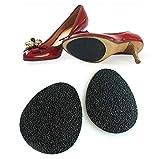 2paires de caoutchouc noir auto-adhésif anti-dérapant semelle de chaussure autocollants talon haut semelle avant-pied antidérapant coussins pour la protection de marche silencieux