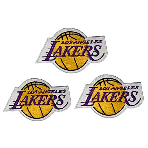 3 Pieces NBA Team Logo Patches Sew On/Iron On Basketball Logo Emblem Sports Applique Accessories Decoration Patches for Clothing Jeans Jackets Handbag Shoes Caps
