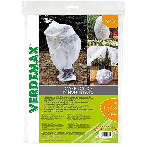 VERDEMAX 5815, Involucro in Tessuto Non Tessuto da 17 g/m², 1 x 1,6 m, Colore Bianco (3 Pezzi)
