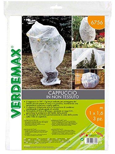Verdemax 5815 Lot de 3 Rouleaux de Papier Peint intissé 17 g/m² Blanc 1 x 1,6 m