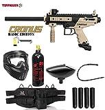 Maddog Tippmann Cronus Basic Tactical Silver Paintball Gun Package - Black/Tan