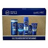 Nivea Men, Protect & Care Pack - Set regalo da uomo con 5 articoli da toeletta, prodotti per l'igiene personale, per la cura e protezione della pelle
