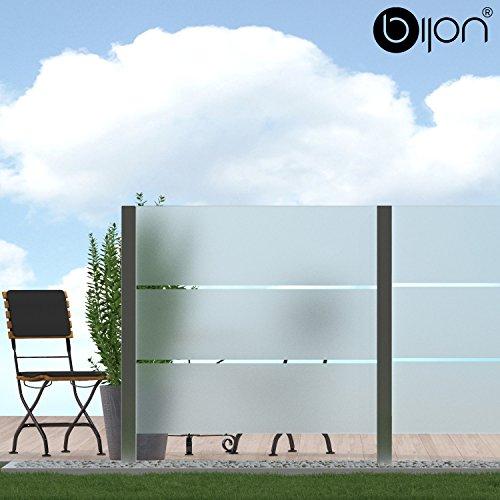 bijon Glassichtschutz Windschutz Glaszaun Teilsatiniert PG6 G | 1190x1835mm