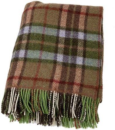 Biddy Murphy Irish Wool Super popular specialty store Blanket Knee Save money Tan 54 Throw Green Small