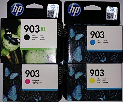 HP 903XL Schwarz und HP 903 je 1x Cyan/ Magenta/ Gelb Original Druckerpatronen für HP Officejet 6950, HP Officejet Pro 6960, HP Officejet Pro 6970