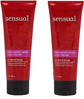 Bath & Body Works Aromatherapy Sensual Black Currant Vanilla Body Cream 8.0 oz, 226g (2 Pack)