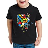 style3 Cubo Mágico Explosión Camiseta para Niños T-Shirt Sheldon, Talla:104