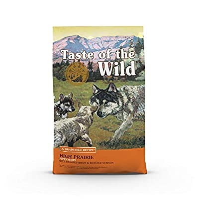 Taste of the Wild Grain Free High Protein Real Meat Recipe High Prairie Puppy Premium Dry Dog Food, 5lb