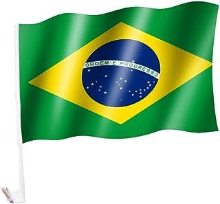 2 Stück/1 Paar Autoflagge/Autofahne Brasilien / Brazil / Brasil   Fahne / Flagge für Auto 2x   car flag