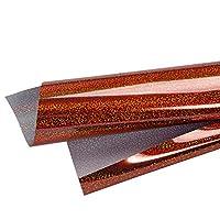 [Mr.M] アイロンプリントシート カラフル グリッターあり カッティング用アイロンシート 50 * 100cm (オレンジ)