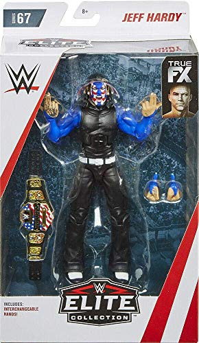 Persecución Variante Jeff Hardy WWE Elite Figura Lucha Libre Mattel Serie 67
