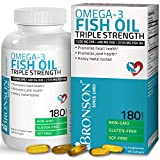 Omega 3 Fish Oil Triple Strength 2720 mg - High EPA 1250 mg DHA 488 mg - Heavy Metal Tested - Non GMO - 180 Softgels
