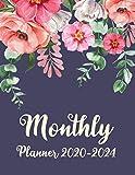 Monthly Planner 2020-2024: Five Year Planner 60 Months Calendar, 5 Year Appointment Calendar, Business Planners, Agenda Schedule Organizer Logbook and Journal with Botanical Garden Design