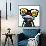 N / A Reliable Canvas Painting Animal Print Frog Cartoon Poster And Prints Living Room Home Decoration Wall Painting Frameless