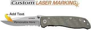 Custom Laser Engraved Gerber Air Ranger Knife Serrated Edge 45860