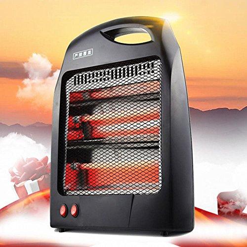 NQ Calentador Calentador Solar Pequeño Banco de Oficina Calentador de Calentamiento Eléctrico Hogar Ahorro de Energía Estudiante Fuego Asado,Negro