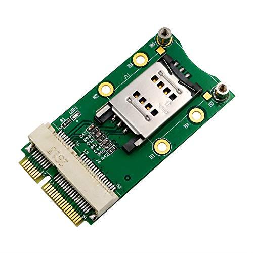 Viudecce Adaptador PCI-E Express a PCI-E con Ranura para Tarjeta SIM para 3G / 4G WWAN LTE Tarjeta GPS PortáTil de Escritorio