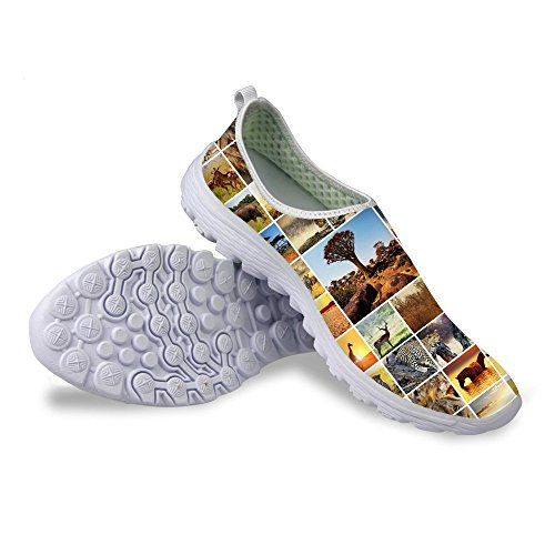 FOR U DESIGNS Best Gift Men's Breathable Air Mesh Jogging Shoes Lightweight Hiking Shoe-Size EU45