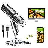 Digitales Mikroskop, Drahtlos Mikroskop 50x-1000x Vergrößerung Handheld USB HD Inspektionskamera WiFi Mikroskop Kamera mit Standfuß Kompatibel mit iPhone, iPad, Android, Mac und Computer