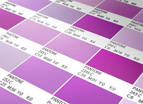 Moonwallstickers Pantone Fliesenaufkleber Violet Modell Wandfarben Ideen (Packung mit 56) (Boden - 10 x 10 cm)