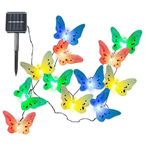 LED Cadena Solar Luz Multi Color Mariposa Guirnalda Impermeable Exterior del Día De Fiesta para El Hogar Decoración del Hogar del Escritorio