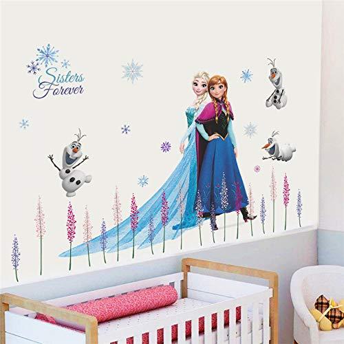 Wandsticker Anime Wandaufkleber Kinderzimmer Baseboard Home Decoration Cartoon Wandkunst Frozen Movie Poster