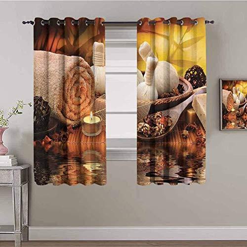ZLYYH cortinas infantiles habitacion Salón textil costura. WxH:168x138cm(84x138cm x2 paneles) Cortinas divisoras de habitación insonorizadas, cortinas oscurecedoras para habitación Cortinas Opacas,200