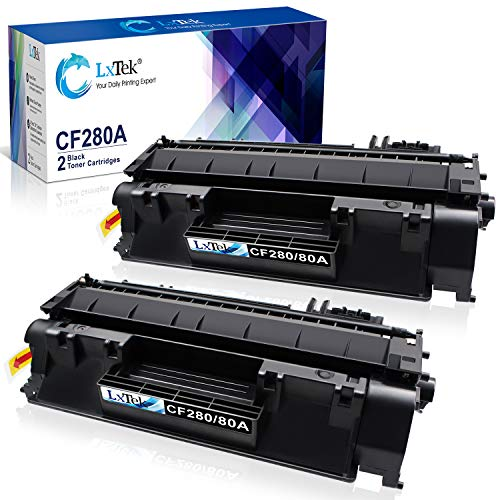 LxTek Compatible Toner Cartridge Replacement for HP 80A CF280A 80X CF280X 05A CE505A to use with Laserjet Pro 400 M401dne M401dn M401dw M401n, Pro 400 MFP M425dn M425dw Printer (2 Black, High Yield)