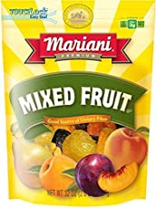 Mariani Mixed Fruit -32oz (Pack of 1) –Perfect Blend of Orchard Fruits, No Sugar Added, Good Source of Dietary Fiber, Gluten Free, Vegan, Fat Free, Cholesterol Free, Non-GMO, Resealable Bag -Healthy Snack for Kids & Adults