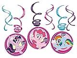 amscan 11012119 Decoraciones coloridas de remolinos con tema My Little Pony - 6 piezas