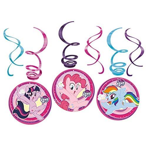 amscan 11012119 - Decorazioni colorate con motivo My Little Pony, 6 pezzi