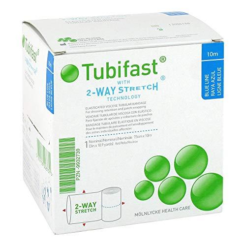 TUBIFAST 2-vägs stretch 7,5 cm x 10 m blå förpackning med 1