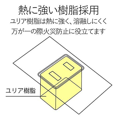 『エレコム 電源タップ 雷ガード 個別スイッチ ほこりシャッター付 6個口 2.5m ブラック T-K6A-2625BK』の9枚目の画像