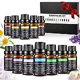 Ätherische Öle Set, Aiemok 100% Naturreines Ätherische Öle Geschenk-Set Ätherisches Öl Aromatherapie Duftöl, Aromatherapie Öle Geschenkset für Diffuser, Luftbefeuchter, Massage-und Haarpflege