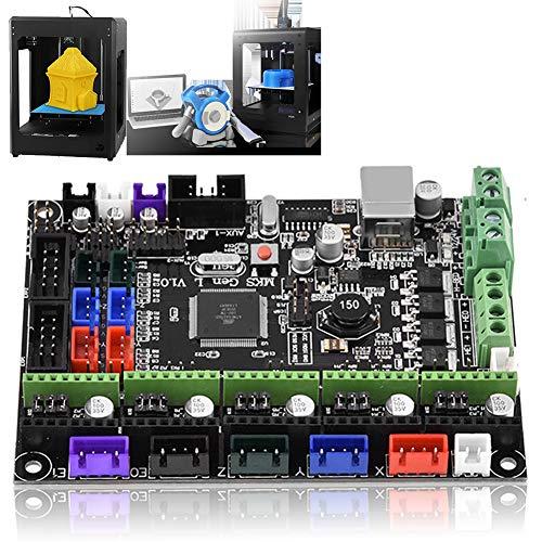 Mavis Laven Placa del Controlador de la Impresora 3D, MKS Gen L V1.0 Placa del Controlador Kit de Impresora 3D Placa Base Placa Base Rampas1.4 Extrusora táctil Doble Compatible con USB