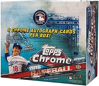2016 Topps Chrome Baseball Hobby Jumbo HTA Box