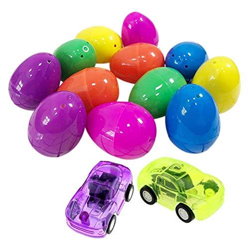 Shhjjyp Huevos De Pascua 12 Piezas Huevos De Plastico para Relleno, Huevos Sorpresa Juguetes, Decoración De Pascua Huevo De Pascua, 12 Piezas Juguete Huevos, para Regalos De Pascua