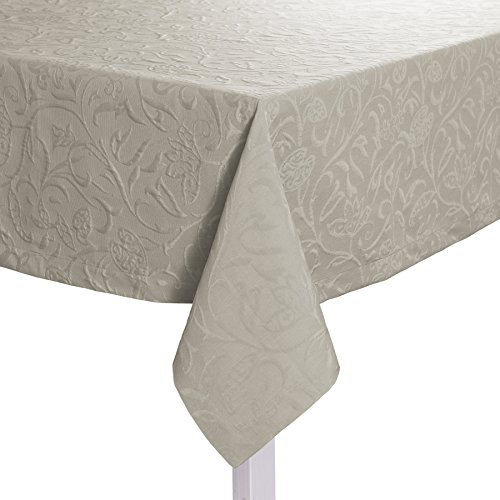 Pichler CORDOBA_150/250_PL hochwertig und bügelfrei - Tischdecke 150 x 250 cm platin