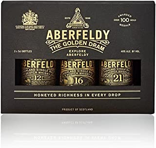 Aberfeldy Whisky Single Malt Tasting Gift Box, Contiene 1x Aberfeldy 12-5 cl, 1x Aberfeldy 16-5 cl, 1x Aberfeldy 21-5 cl, ...