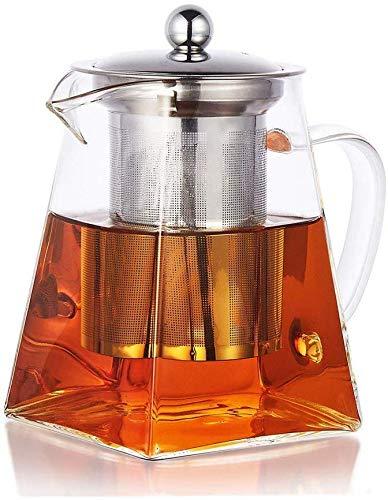 PluieSoleil ティーポット 耐熱ガラス 急須 ガラスティーポット 茶こし ガラス 紅茶ポット 500ml