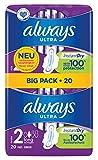 Always Always Ultra Long - Assorbenti igienici, misura 2, con ali, 20 pezzi, 111 g