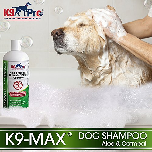 Oatmeal Dog Shampoo and Conditioner - For Dogs With Allergies And Dry Itchy Sensitive Skin. Best Hypoallergenic Medicated Tear Free Anti Itch For Puppy - With Aloe Cucumber Essence and Melon Extract