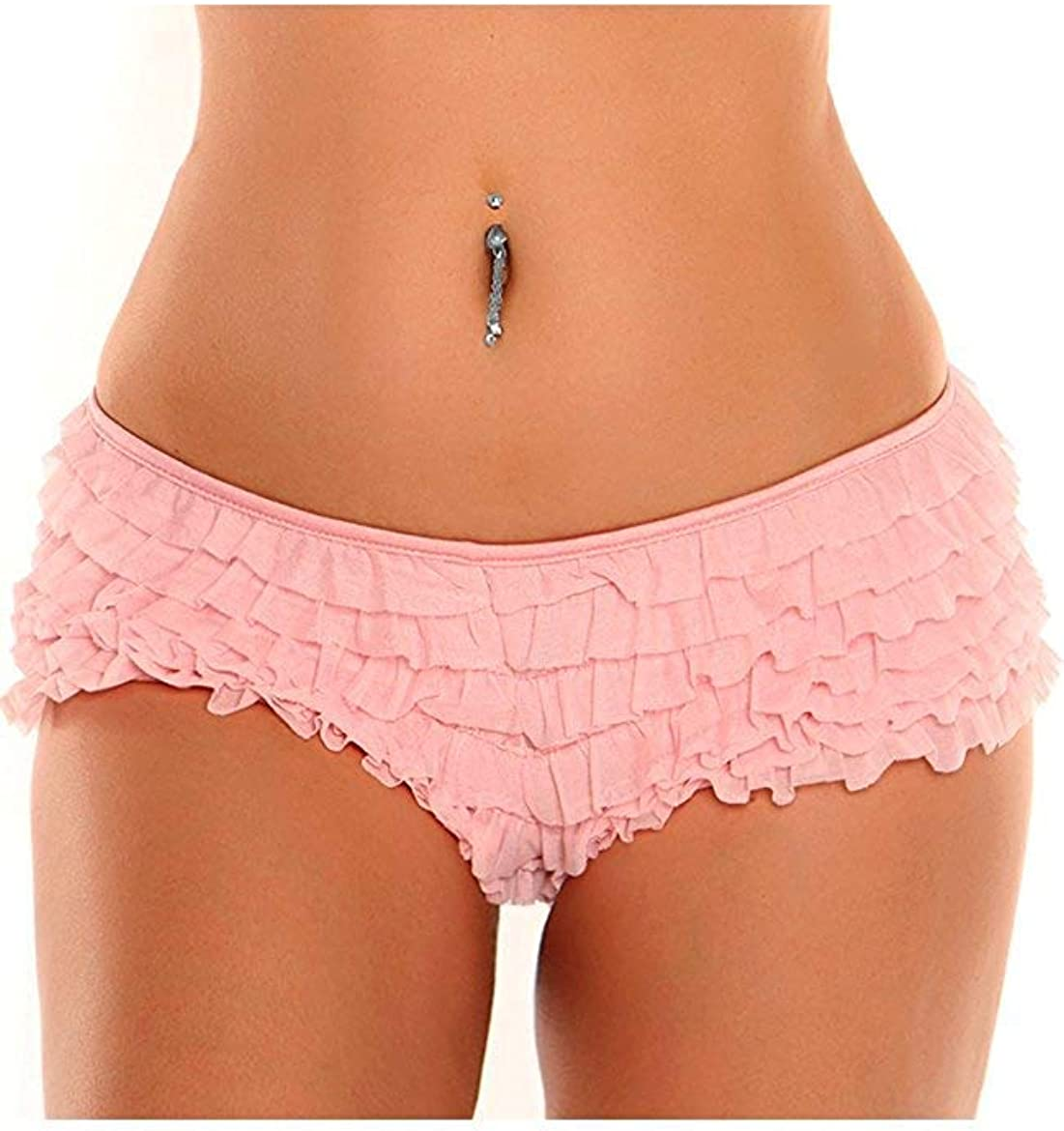 Daisy Corsets Women's Size Mesh Ruffle Shorts with Bow Plus