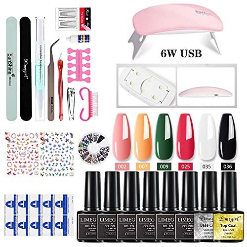 Delawen 6/7 Colores Set de Esmalte de Gel de uñas con 4 Colores Poly UV Gel Set Clear Acrylic Rápido Edificio Máquina de manicura Máquina de manicura (Color : ZH143 8)