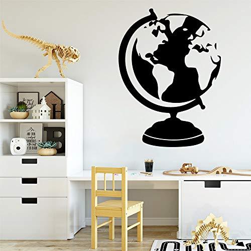 Kreative Globus Vinyl Wandaufkleber Dekoration Zubehör für Kinderzimmer Wandaufkleber Wandbild Wandaufkleber 43cm X 58cm