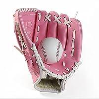 YFAX、PUレザーベースボールグローブ、ソフトボールミット、初心者または内野手にフィット、プロ野球ミットキャッチ-L