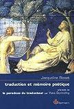 Traduction et mémoire poétique - Dante, Scève, Rimbaud, Proust