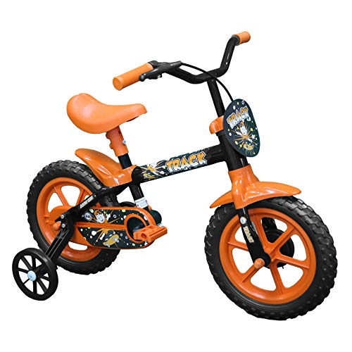 Bicicleta Arco Iris Infantil Aro 12 Preto e Laranja, Track Bikes