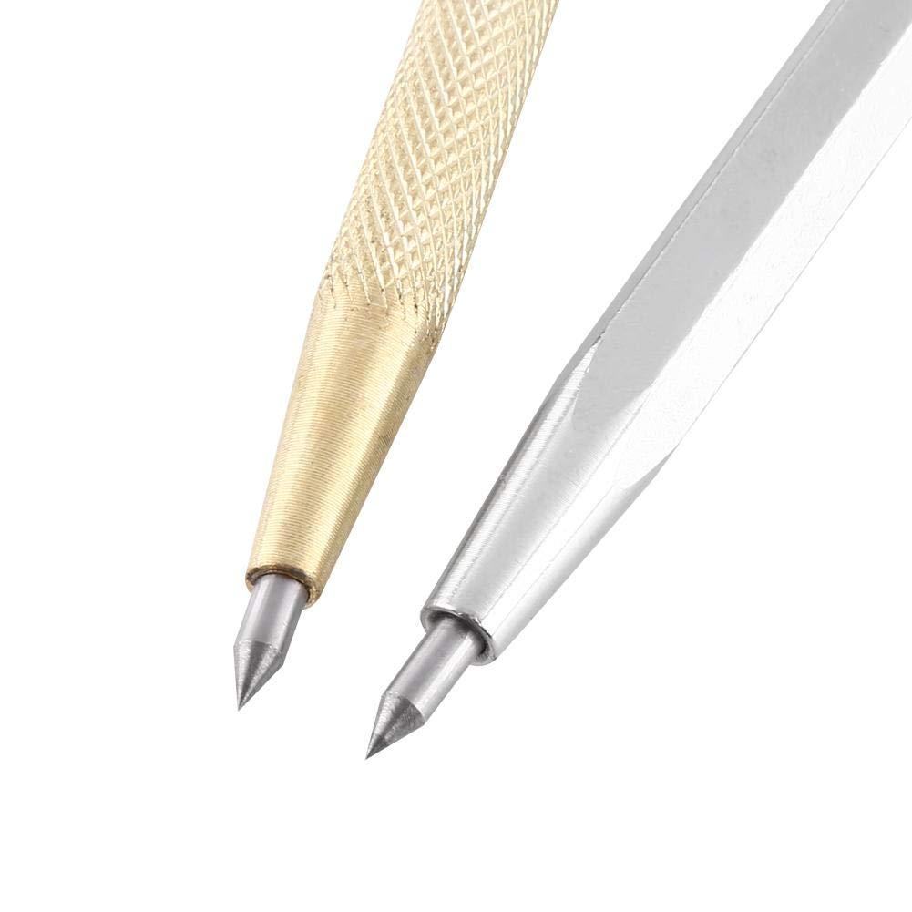 1pc Punta de carburo Scriber grabado bolígrafo Carve de grabado herramienta punta trazadora para vidrio/cerámica/metal sheet, portátil bolsillo bolígrafo trazar con clip y imán: Amazon.es: Bricolaje y herramientas