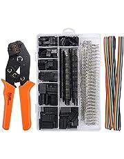 Orange crimptång dupont kontakt set SN-28B spärrkrimptång med 1550 st. kontaktkontakter. Hane/hona kontakt 0,1-1,0 mm² crimpverktyg för 2,54/3,96 mm anslutningar 28-18AWG